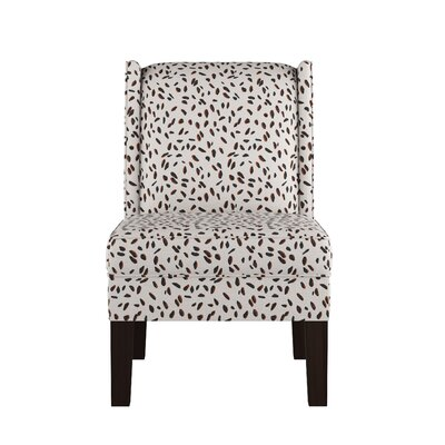 Wingback Chair Upholstery: Neo Leo Cream Tan Black OGA