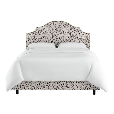 Marksbury Nail Button Notched Upholstered Panel Bed Size: King