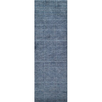 Haggins Hand-Knotted Denim Area Rug Rug Size: Runner 26 x 8