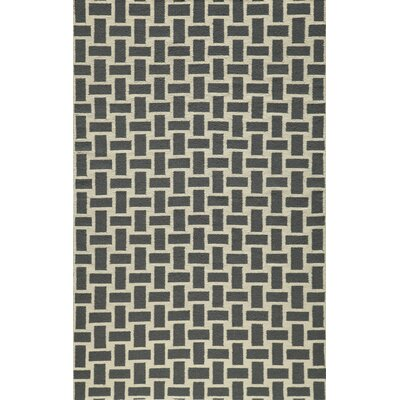 Hagler Hand-Woven Gray Area Rug Rug Size: Rectangle 8 x 10