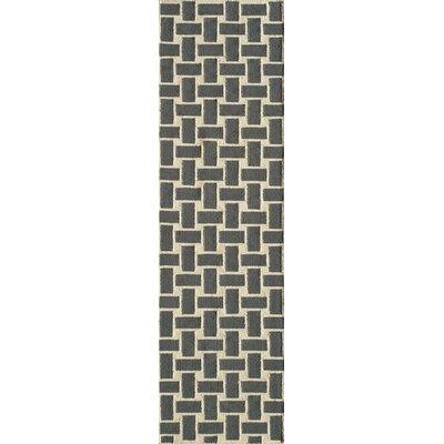 Hagler Hand-Woven Gray Area Rug Rug Size: Runner 23 x 8
