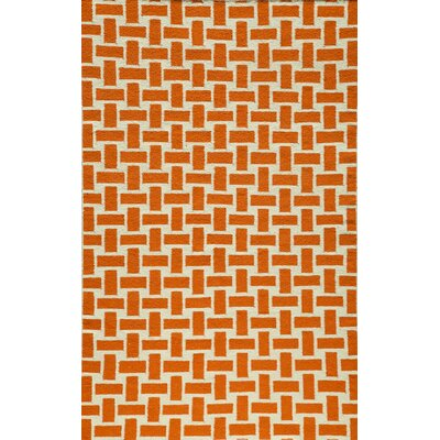 Hagler Hand-Woven Orange Area Rug Rug Size: Rectangle 36 x 56