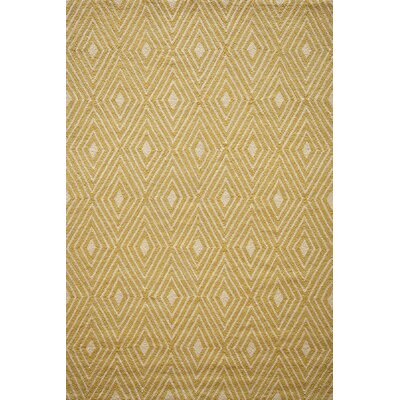Haglund Yellow Hooked Indoor/Outdoor Area Rug Rug Size: 2 x 3