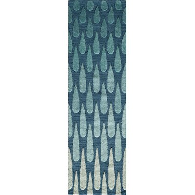 Hagood Hand-Tufted Blue Area Rug Rug Size: Rectangle 76 x 96