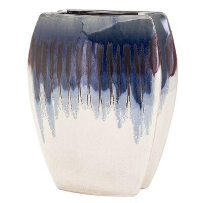 Blue Ceramic Table Vase Size: Large