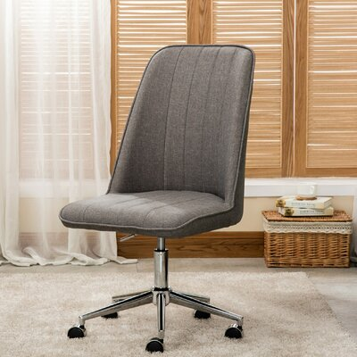 Haislip Linen Desk Chair