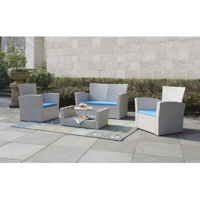 Hakes 4 Piece Deep Seating Group with Cushions