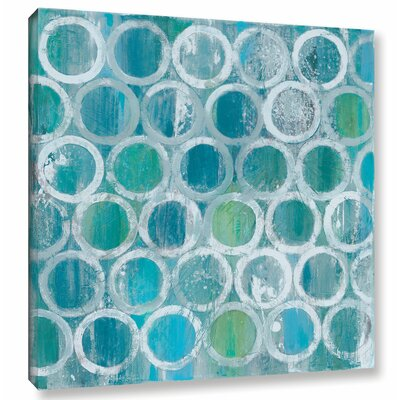 'Stack of Tubes Blue' by Albena Hristova Painting Print on Wrapped Canvas Size: 10