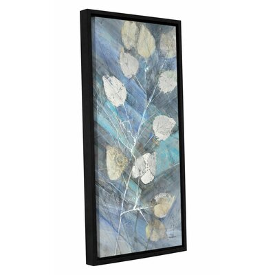 'Silver Leaves II' by Albena Hristova Framed Painting Print Size: 24