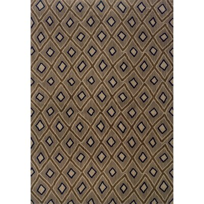 Hallock Brown Area Rug Rug Size: 53 x 76