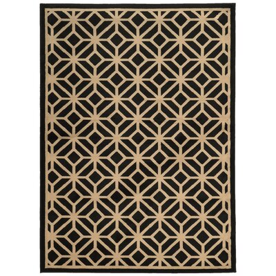 Halloran Black/Beige Area Rug Rug Size: Rectangle 110 x 33