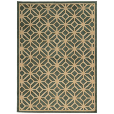 Halloran Light Blue/Beige Area Rug Rug Size: Rectangle 67 x 96