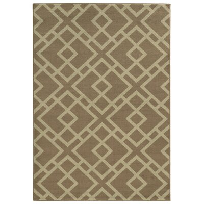 Halloran Grey/Beige Area Rug Rug Size: Rectangle 67 x 96