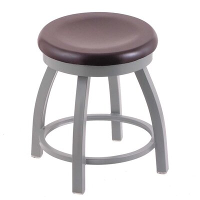 Cragin Vanity Stool Seat Finish: Dark Cherry Maple, Base Finish: Anodized Nickel