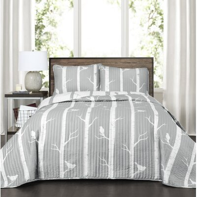 Mendon 3 Piece Reversible Quilt Set Size: Full/Queen