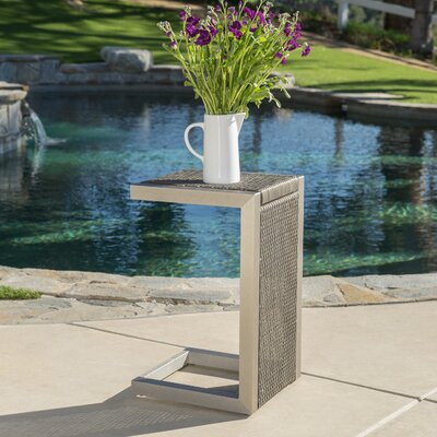 Durbin Aluminum End Table Color: Gray