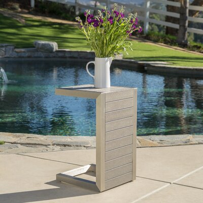 Durbin Aluminum End Table Color: Natural