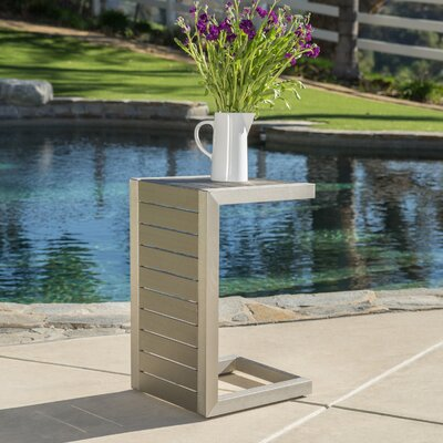 Durbin Aluminum End Table Color: Silver