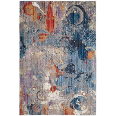 Amulree Gray/Blue Area Rug Rug Size: Square 7
