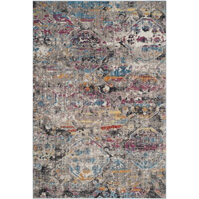 Amulree Gray/Blue Area Rug Rug Size: Rectangle 51 x 76