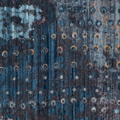 Cumbernauld Blue/Orange Area Rug Rug Size: Rectangle 51 x 76
