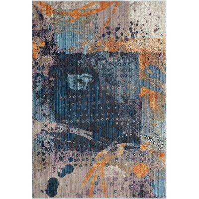 Cumbernauld Blue/Orange Area Rug Rug Size: 9 x 12