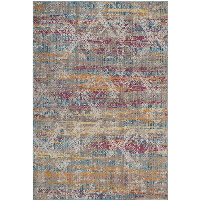 Kinvara Fuchsia/Light Gray Area Rug Rug Size: Rectangle 6 x 9