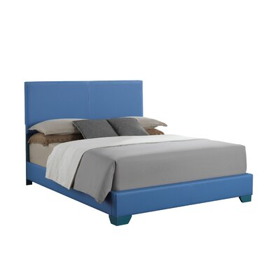 Aedan Upholstered Panel Bed Size: King, Color: Sky Blue