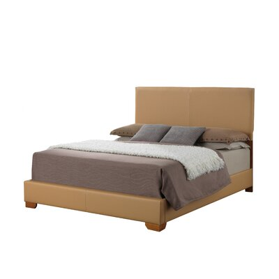 Aedan Upholstered Panel Bed Size: King, Color: Light Brown