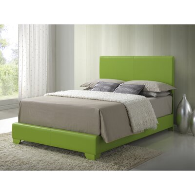 Aedan Upholstered Panel Bed Size: Full, Color: Green