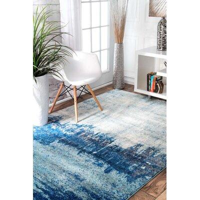 Gleno Blue Area Rug Rug Size: 8 x 10