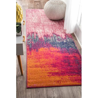 Gross Pink Area Rug Rug Size: Runner 28 x 8