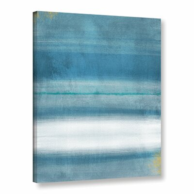 Blue Abstract Print of Painting on Wrapped Canvas Size: 10