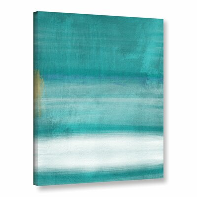 Blue Abstract II Print of Painting on Wrapped Canvas Size: 10