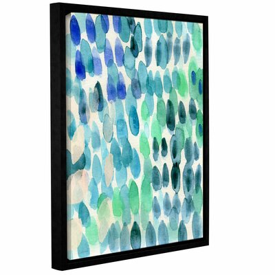 Waterfall I Framed Print of Painting Size: 10