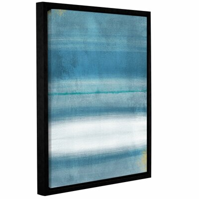 Blue Abstract Framed Print of Painting Size: 10