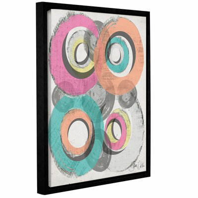 Circle Abstract II Framed Graphic Art Size: 10