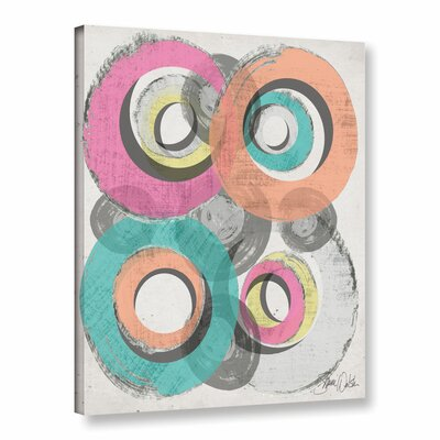 Circle Abstract II Graphic Art on Wrapped Canvas
