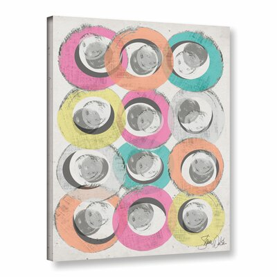 Circle Abstract I Graphic Art on Wrapped Canvas