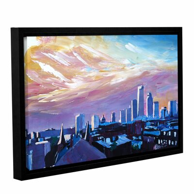 Boston Massachusetts Skyline Framed Painting Print Size: 12
