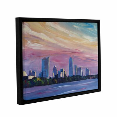Astonishing Austin Texas Skyline at Dusk Framed Painting Print Size: 14