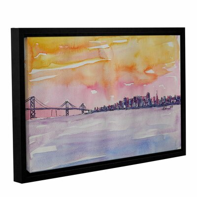Bay Area Skyline Framed Painting Print Size: 12