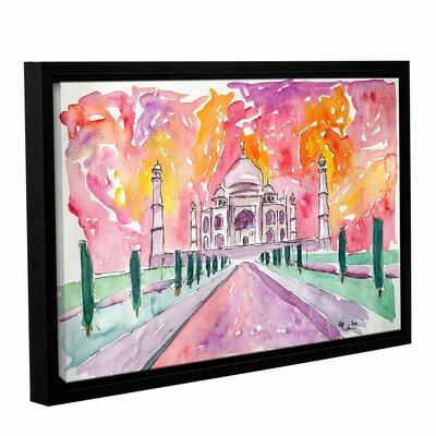 Taj Mahal Colorful Framed Painting Print Size: 12
