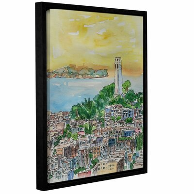 San Francisco Dusk Framed Painting Print Size: 10