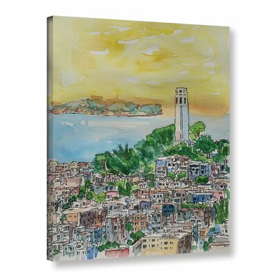 San Francisco Dusk Painting Print on Wrapped Canvas Size: 10