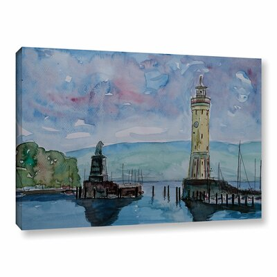 Lindau Lake Constance Painting Print on Wrapped Canvas