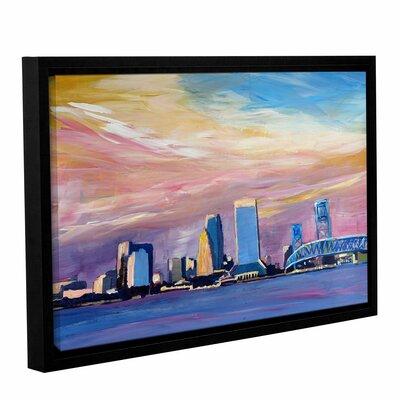 Jacksonville Florida Skyline Framed Painting Print Size: 12