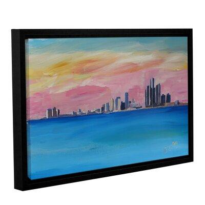 Detroit Michigan Skyline Framed Painting Print