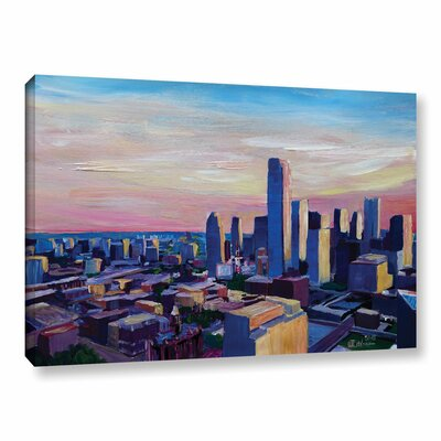 Dallas Texas Impressive Painting Print on Wrapped Canvas Size: 12