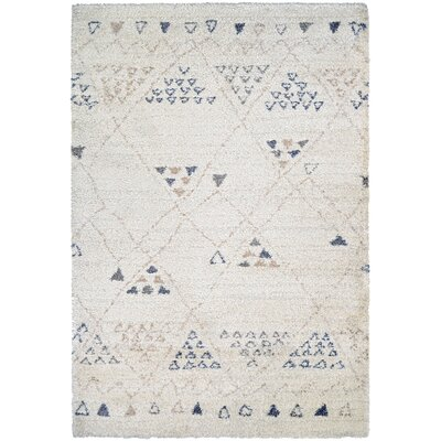 Kimberly Beige/BlueArea Rug Rug Size: Rectangle 53 x 76